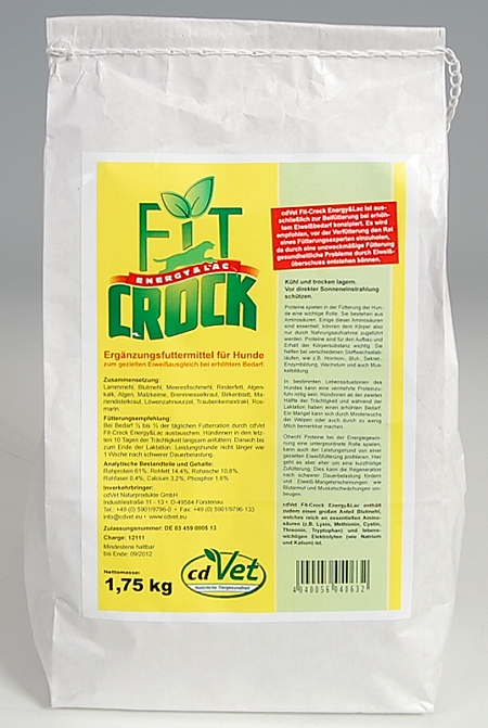 CdVet Fit-Crock Energy & Lac 1,75 kg