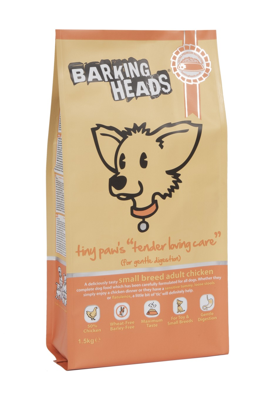 BARKING HEADS Tiny Paws Tender Loving Care 1.5kg