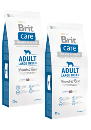DuoPack Brit Care Dog Adult Large Breed Lamb & Rice 12kg