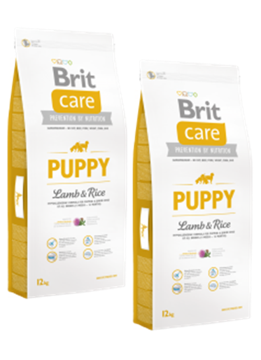 DuoPack Brit Care Dog Puppy Lamb & Rice 12kg