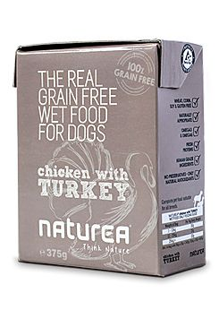 Naturea GF dog vlhké - Chicken, Turkey 375g