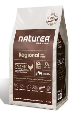 Naturea GF dog Regional - Adult small breeds 2kg